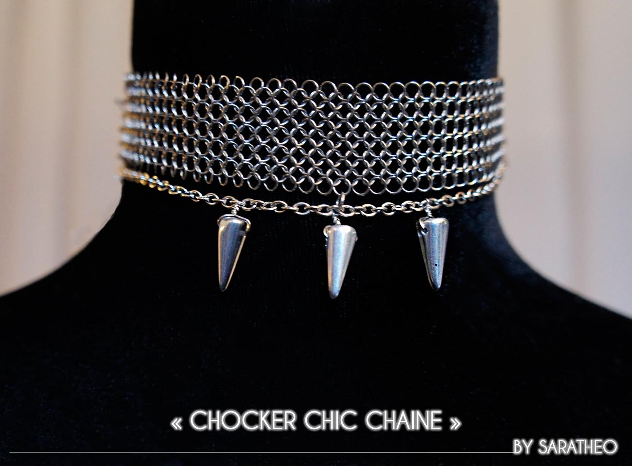 chocker Orion chic chain, BY SARATHEO